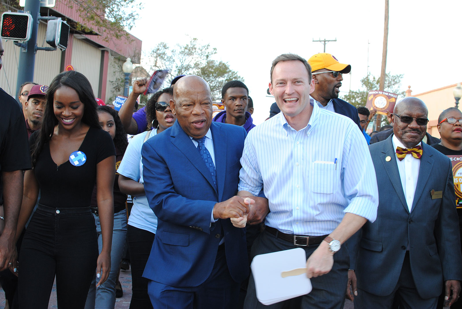 Stephen Cummings, Patrick Murphy joins Bethune Cookman University's march to the polls, 2016